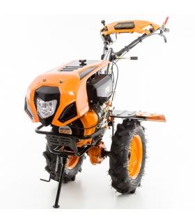 Motoculteur diesel 10 Cv 8 fraises vitesses 2AV - 1AR roues agraires 500x12 - charrue réversible Ruris 1001 KSD