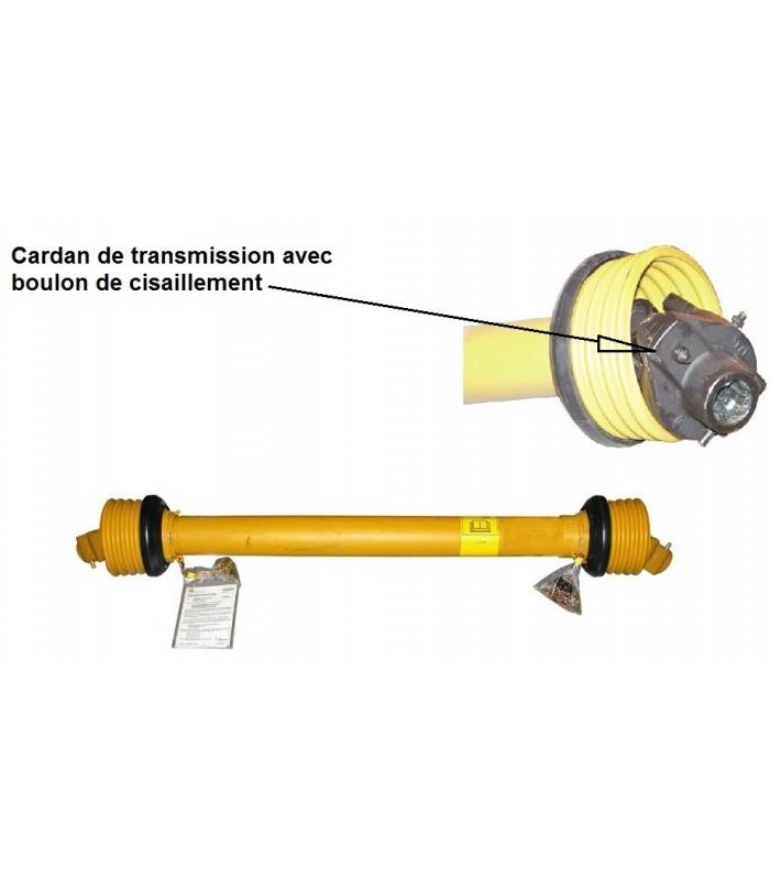Cardan avec limiteur à boulon pour micro tracteur