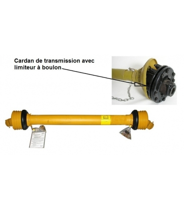 Cardan avec limiteur à friction pour micro tracteur
