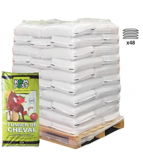 Amendement naturel fumier de cheval composté 48 sacs de 20 kg