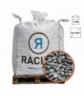 Paillage minéral pouzzolane grise 7/15 Big bag 1 m3 pour 20m2
