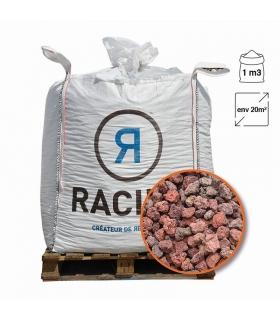 Paillage minéral en pouzzolane rouge 20/40 Big bag 1 m3 pour 20m2