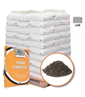Mélange de terre végétale enrichie RACINE pour bacs et jardinières 48 sacs 20 litres
