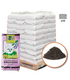 Terre de bruyère forestière pour plantation 10 sacs de 40 litres