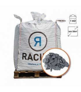 Paillage minéral ardoise grise calibre 40/70 Big bag 800 itres pour 20m2