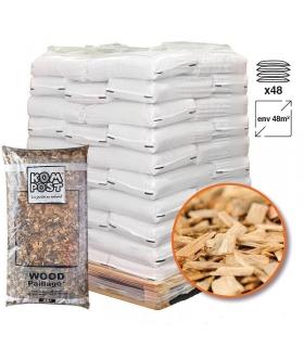Paillage biodégradable plaquettes forestières bois 48 sacs de 50l pour 48m2