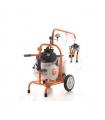 Machine à traire électrique 550W chassis mobile cuve inoxydable 30 litres Ruris Lact 702