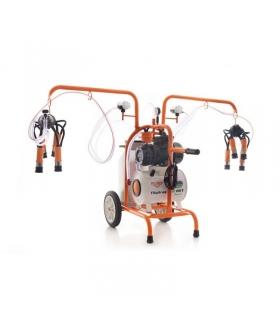Trayeuse électrique 550 W 2 postes sur roues cuve alu 40 litres Ruris Lact801