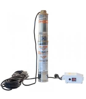 Pompe submersible 1100W débit 1,8m3/h décharge 100m stator cuivre Ruris Aqua 104