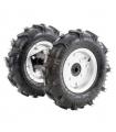 Kit 2 roues pneumatique avec moyeux pour motobineuse et motoculteur 400x8 LEA