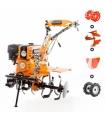 Motoculteur 8,5 Cv 6 fraises vitesses 2AV -1AR charrue butteur roues agraires et métal Ruris 751 KS