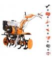 Motoculteur 7,5 Cv vitesses 2AV -1AR charrue butteur arracheuse pomme de terre roues agraires et métalliques Ruris 733k Premium