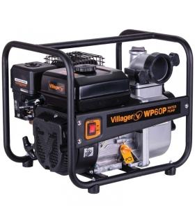 Pompe à eau thermique 5,6Cv 212cm3 débit 60000 l/h Villager WP60P raccord 75 mm 3 pouces