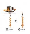 Tarière motorisée 43cc 2 temps Villager VPH 43 avec vrilles 15 et 25cm